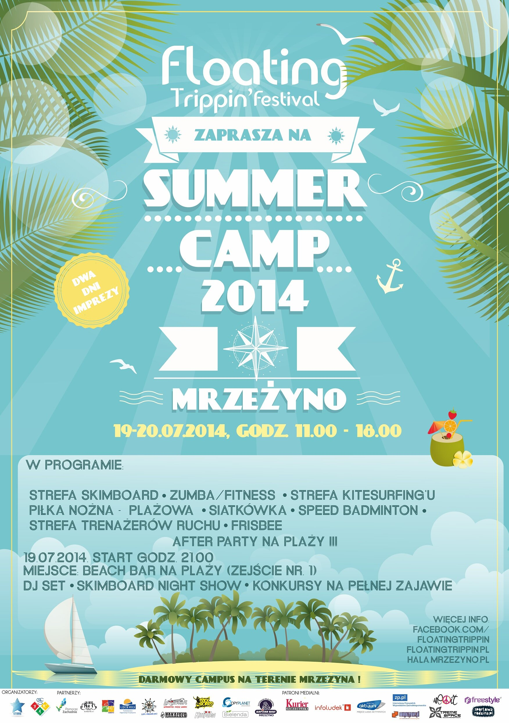 Plakat Summer Camp Mrzeżyno 2014