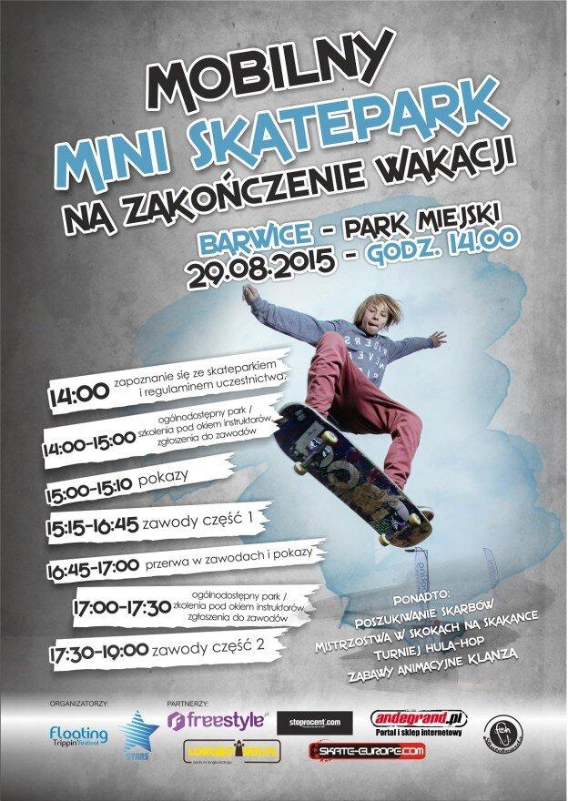 Skate Jam Barwice - plakat (mniejszy)